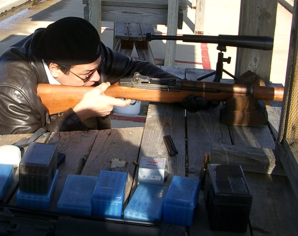 Alix paultre with M1 Garand rifle