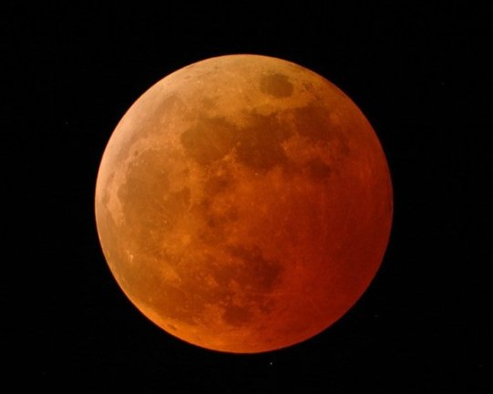 A shadow cast by the Earth on the moon is a lunar eclipse